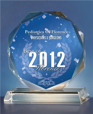 Pediatrics Of Florence Receives 2012 Best of Florence Award