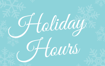Our Holiday Hours